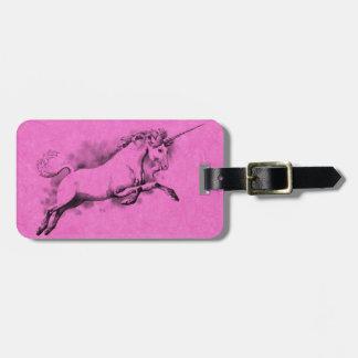 unicorn sketch fantasy art story trendy fashion travel bag tag