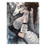 Unicorn Skull Masquerade Letterhead Template