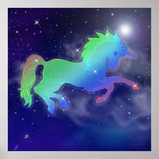 Unicorn Sky | Starry Night Poster