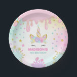 """Unicorn Slime Birthday Paper Plate Slime Party<br><div class=""""desc"""">Unicorn Slime Birthday Paper Plate.  Designed are &#169;PIXELPERFECTIONPARTYLTD</div>"""