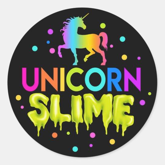 unicorn slime stickers slime labels slime favors classic. Black Bedroom Furniture Sets. Home Design Ideas