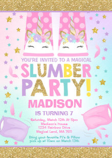 slumber party invitations zazzle