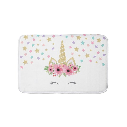 Turquoise Bath Rugs For Dry The Feet Simple Turquoise: Unicorn Small Bath Mat
