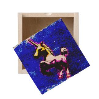 Unicorn Small Wood Keepsake Box (Punk Cupcake)