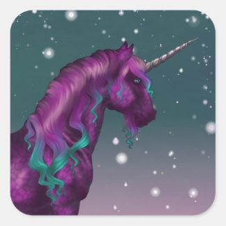 Unicorn Snow Sticker