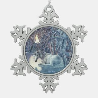 Unicorn Snowflake Ornament