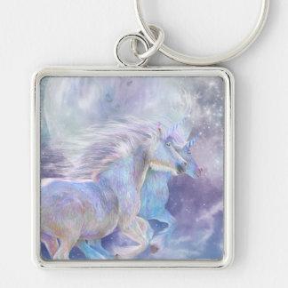 Unicorn Soulmates Art Keychain