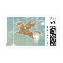 Unicorn Sparkle Lights Gold Boy Baby Shower Stamp