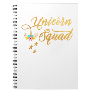 Unicorn Squad. Calligraphy, Floral Horse Face Notebook