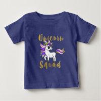 Unicorn Squad, Colorful Pony Baby T-Shirt