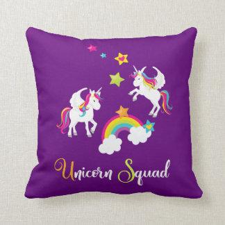 Unicorn Squad Rainbow Stars. Fairy Tale Pillow