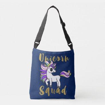Aztec Themed Unicorn Squad, white kawaii Pony Crossbody Bag