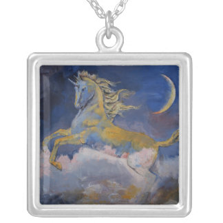 Unicorn Square Pendant Necklace