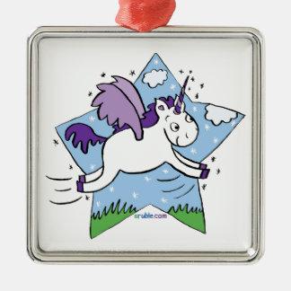 Unicorn Star Metal Ornament