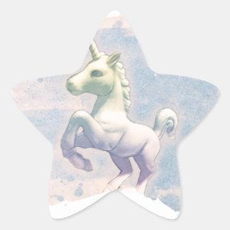 Unicorn Sticker Star-Shaped (Moon Dreams)