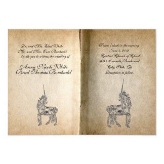 Unicorn Story Book Wedding Invitation