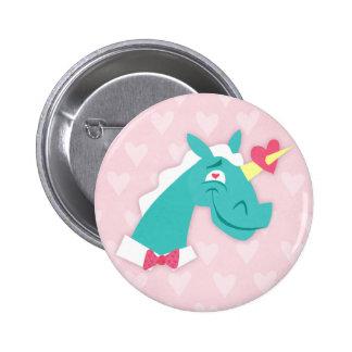 Unicorn Struck by Love Button
