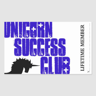 Unicorn success club membership stickers
