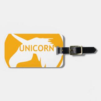 Unicorn sun traffic sign bag tag