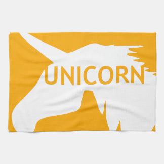 Unicorn sun traffic sign hand towels