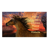 unicorn, horse, animal, equine, creature, magic, fantasy, fairytale, folklore, tale, fable, horn, myth, mythology, mare, stallion, forest, trees, steed, mammal, mount, wild, herd, beast, magical, foal, charger, livestock, horsepower, colt, filly, fawn, stag, doe, buck, brute, image, picture, illustration, dappled, Cartão de visita com design gráfico personalizado