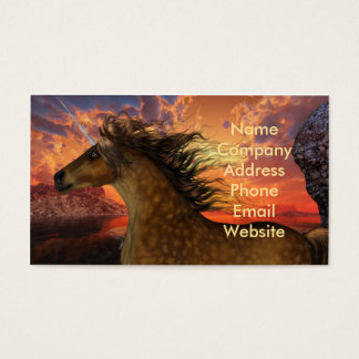 Unicorn Sunset Business Card