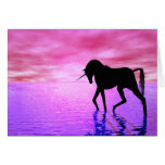 Unicorn Sunset Greeting Card
