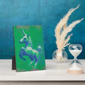 Unicorn Tabletop Plaque 5x7 (Glowing Emerald)