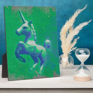 Unicorn Tabletop Plaque 8x10 (Glowing Emerald)