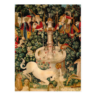 Unicorn Tapestries Medieval Art Postcard