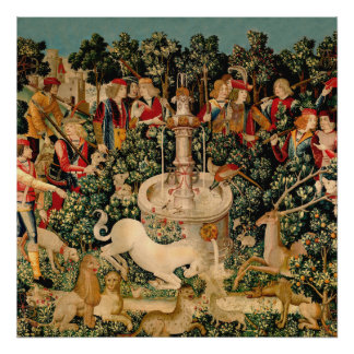 Unicorn Tapestries Medieval Art Posters