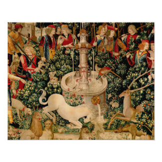 Unicorn Tapestries Medieval Hunting Posters