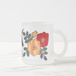 Unicorn Tapestry Frosted Glass Coffee Mug
