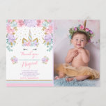 "Unicorn Thank You Card Pink Gold Magical Unicorn<br><div class=""desc"">Unicorn Thank You Card. 