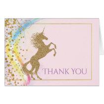 Unicorn Thank You Cards