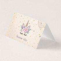 Unicorn Thank You Cards | Unicorn Face
