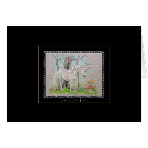 Unicorn & the Fairy Greeting Card