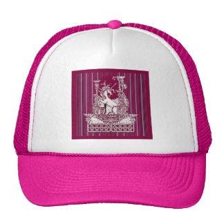 Unicorn Thistle Burgundy Art by sharles Art Trucker Hat
