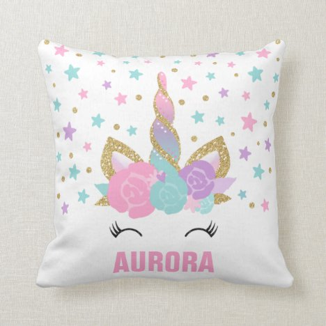 Unicorn Throw Pillow Magical Unicorn Room Decor
