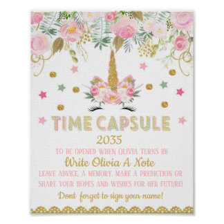 Unicorn Time Capsule Poster