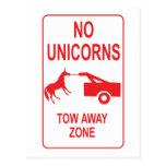 Unicorn Tow Away Zone Post Cards