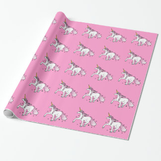 Unicorn Trotting through Stars Wrapping Paper