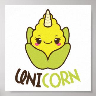 UniCORN (unicorn and corn) Poster