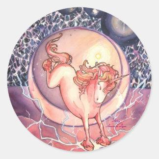 Unicorn, Universe Classic Round Sticker