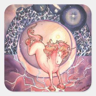 Unicorn, Universe Square Sticker