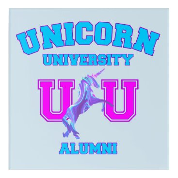 Art Themed Unicorn University Acrylic Print