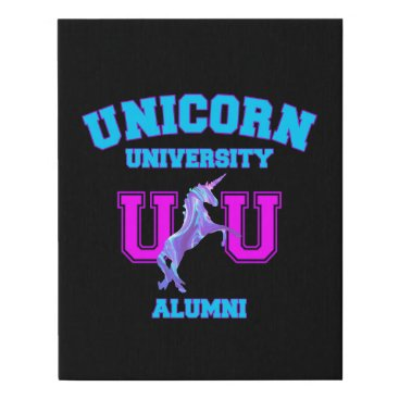 Art Themed Unicorn University Faux Canvas Print