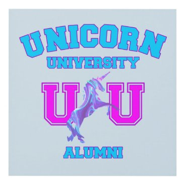 Art Themed Unicorn University Panel Wall Art