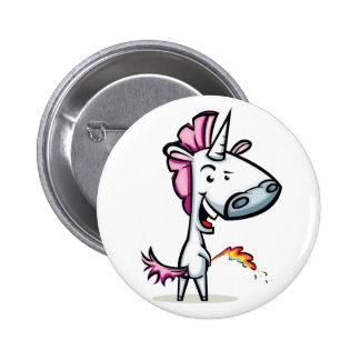 Unicorn urinating the rainbow button