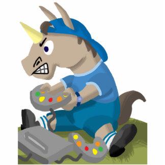 Unicorn Video Game Boy Cutout Sculpture